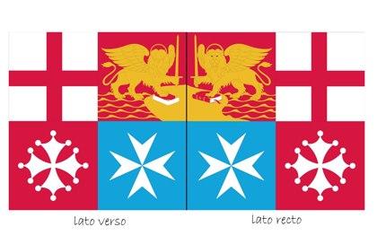 Bandera de bauprés Marina Militar Italia