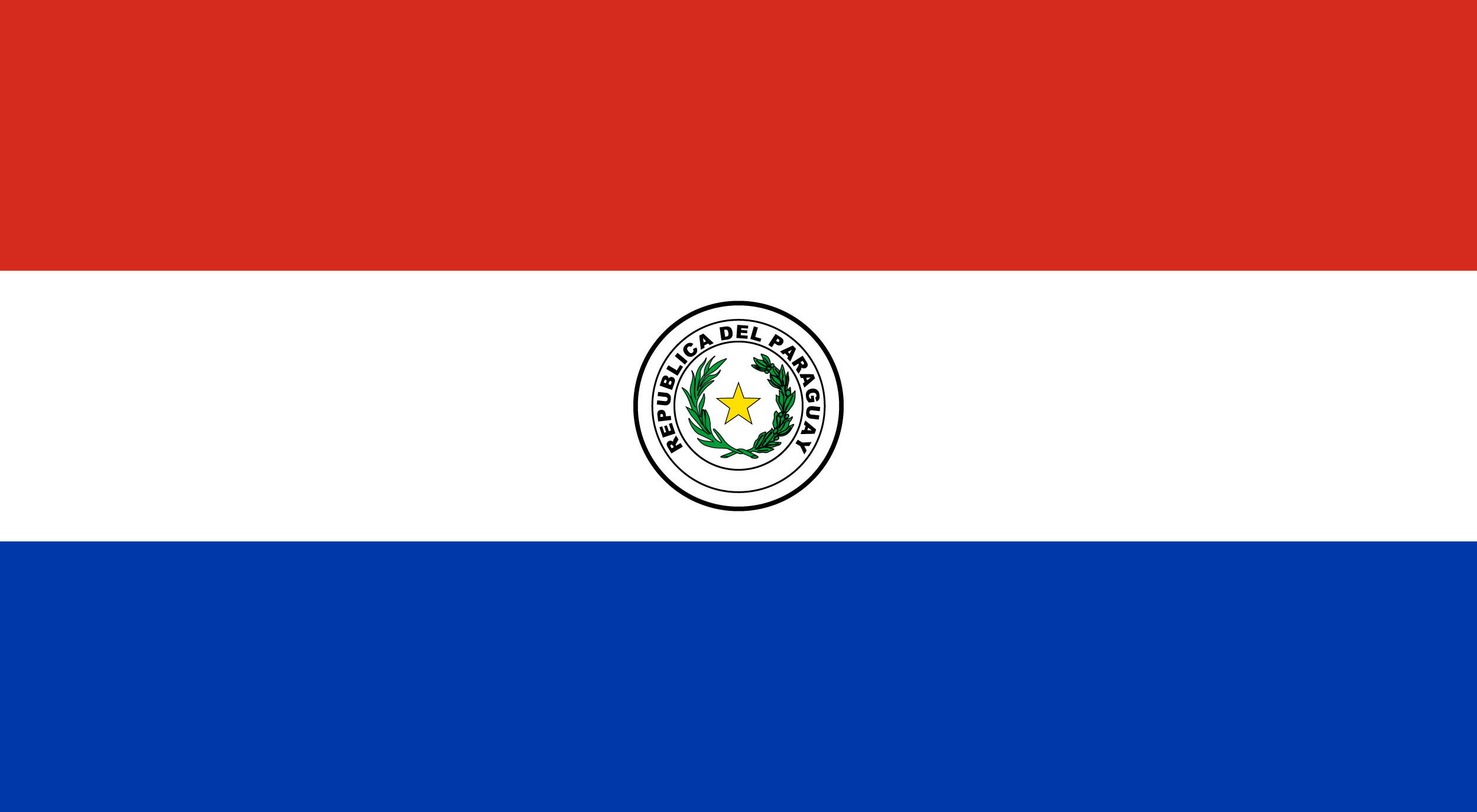 flag sticker of Paraguay