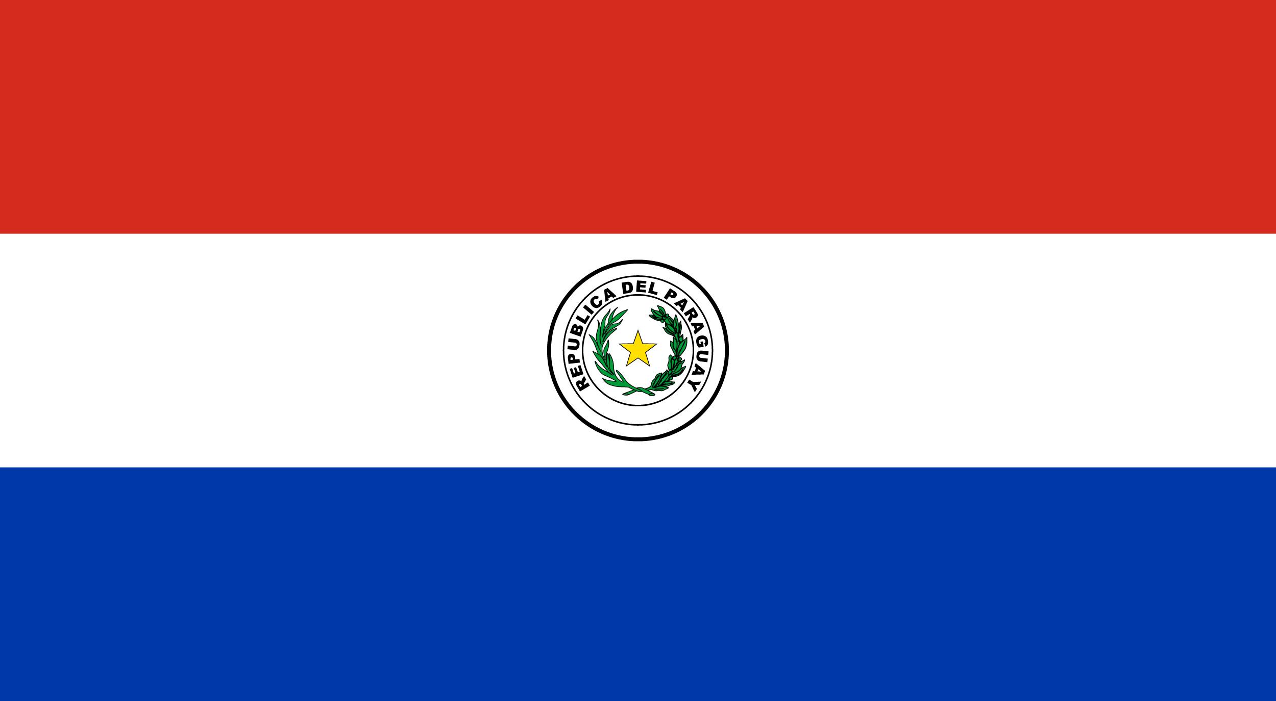 Paraguay aufkleber fahne