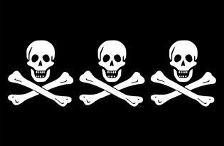 Flag del pirata Christopher Condent