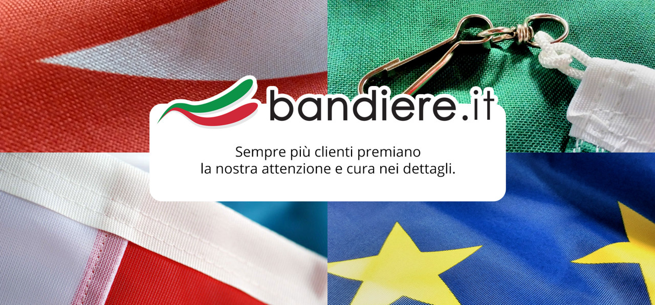 Flags 100% made in Italy