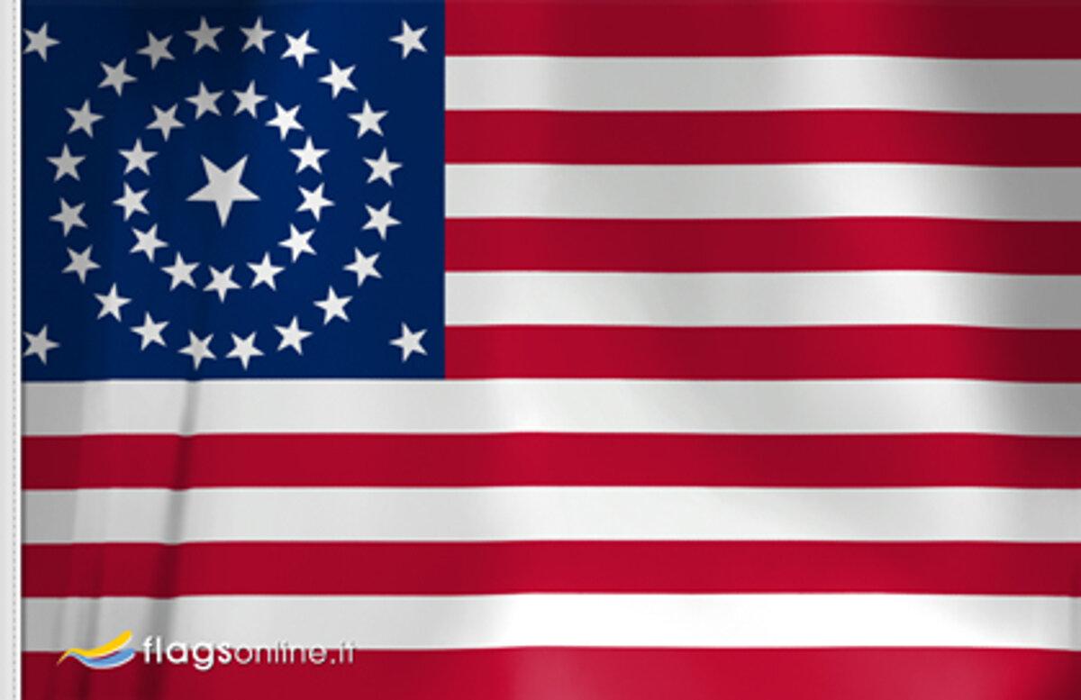 US Concentric Circle Designs 1877 - 1890 Flag