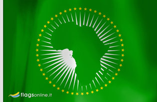 Adhesive flag African Union