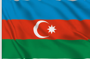 Azerbaigian Table Flag