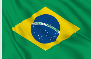 Brazil Table Flag