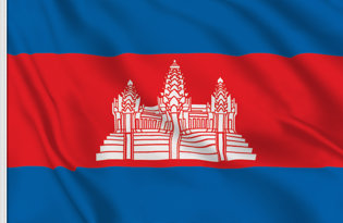 Cambodia Table Flag