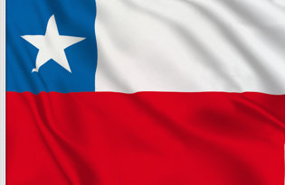 Chile Table Flag