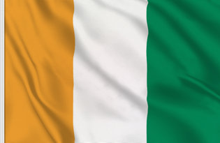 Ivory Coast Table Flag
