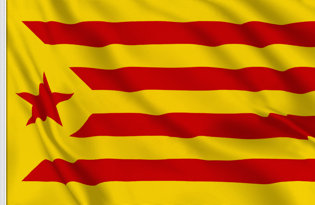 Estelada Vermella Table Flag