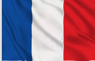 France Table Flag