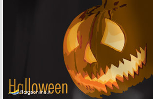 Bandera Linterna de Halloween