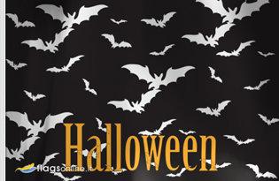 Bandera Murcielagos de Halloween
