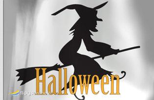 Bandera Bruja de Halloween