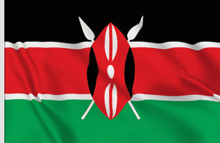 Kenya Table Flag