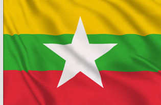 Myanmar Table Flag