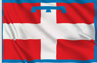 Piemonte Table Flag