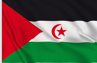 Western Sahara Table Flag