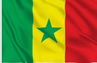 Senegal Table Flag
