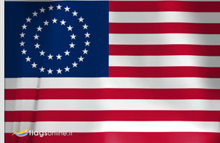 Flag US Medallion Centennial 1867 - 1877