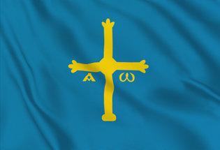 Asturie Table Flag