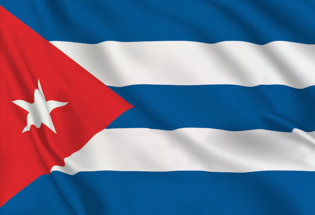 Cuba Table Flag