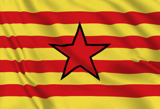 Flag Estelada aragonesa