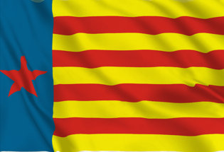 Flag Estelada valenciana roja