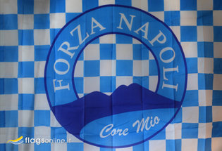 Bandera Napoli Forza Core Mio