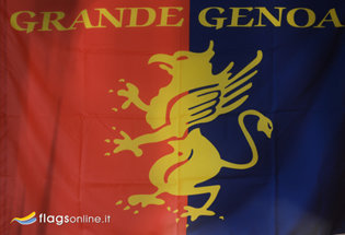 Flag Historical Genoa Calcio