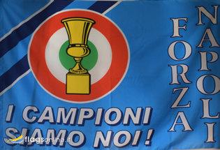 Bandera Napoli Coppa Italia Storica