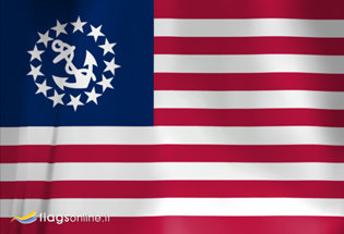 Flag US Yacht Ensign