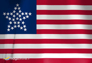 Bandera US Great Star 1859