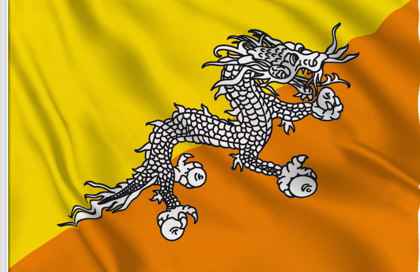 Bhutan Table Flag