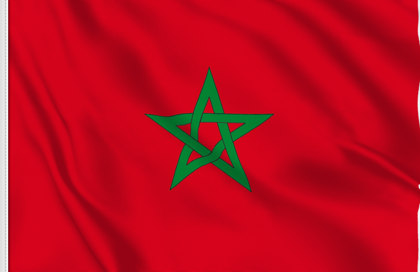 Morocco Table Flag