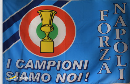 Flag Historical Napoli Coppa Italia