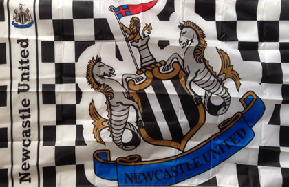 Bandera Newcastle United Football Club