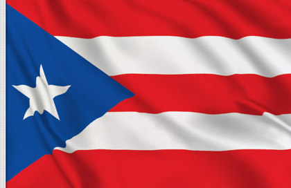 Puerto Rico Table Flag