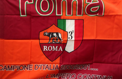 Historic AS Roma Champion Flag