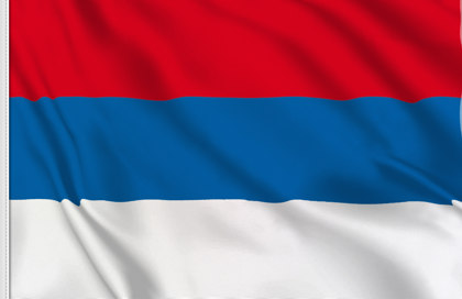 Flag Serbia National