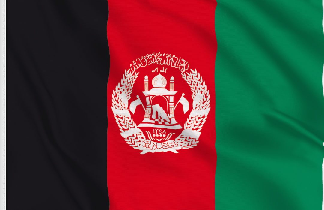 Flag sticker of Afghanistan
