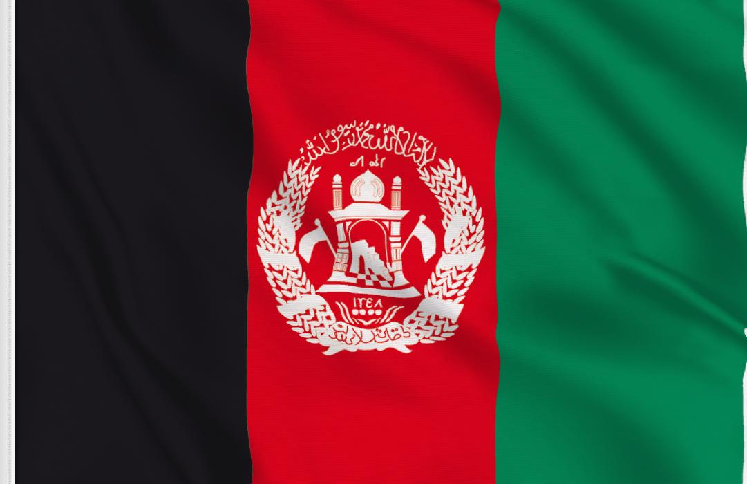 Afghanistan aufkleber fahne