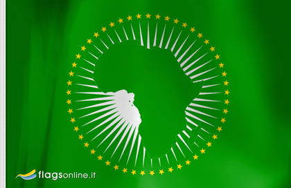 flag sticker of African Union
