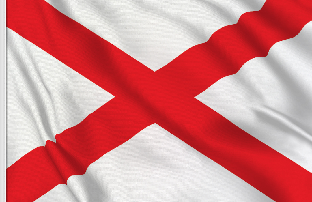 Flag sticker of Alabama