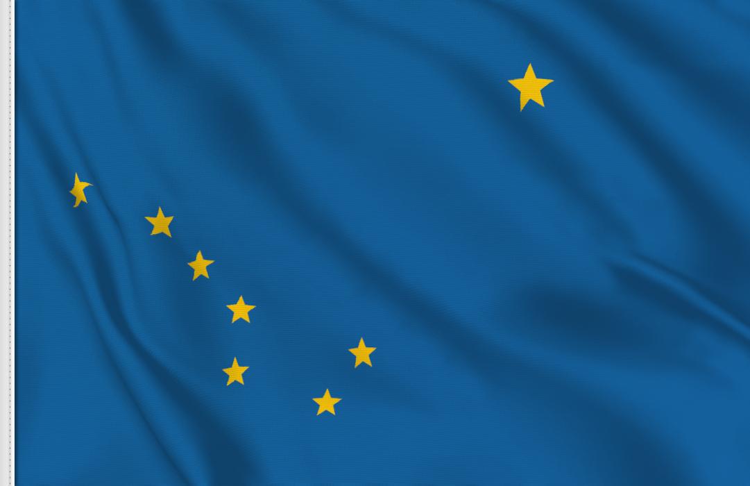 flag sticker of Alaska
