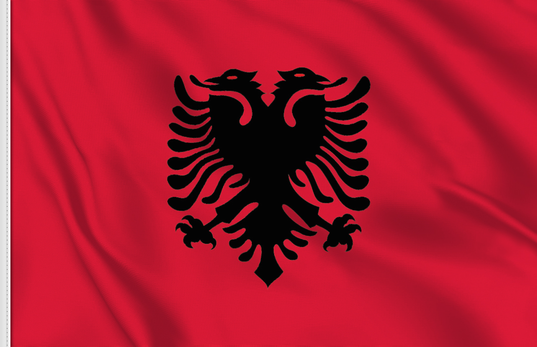 flag sticker of Albania