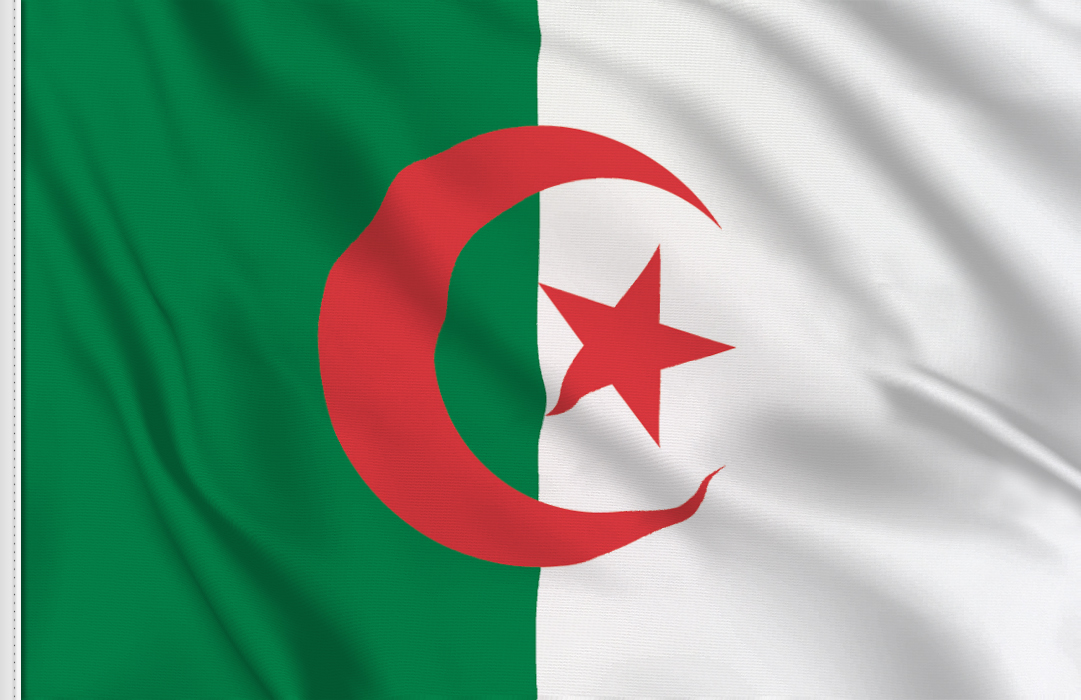 flag sticker of Algeria