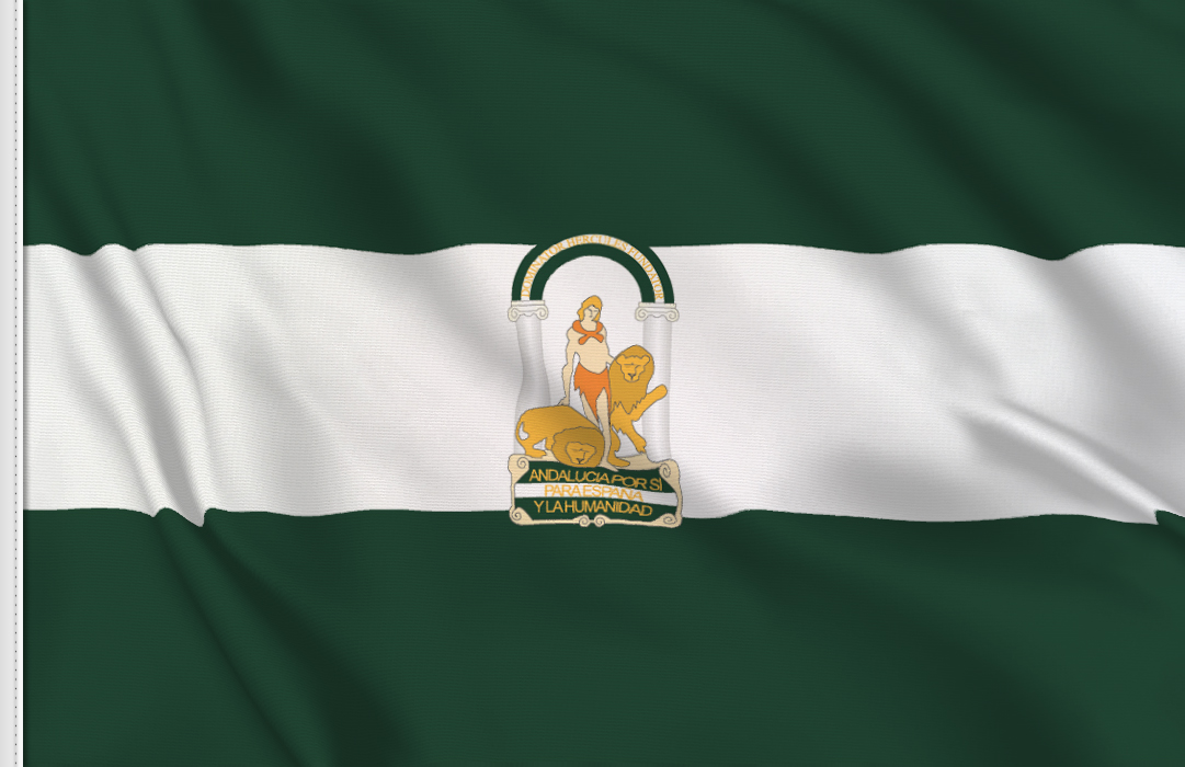 fahne Andalusien, flagge von Andalusien
