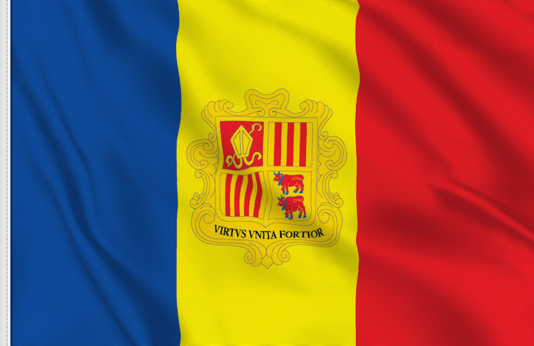 bandera de mesa de Andorra