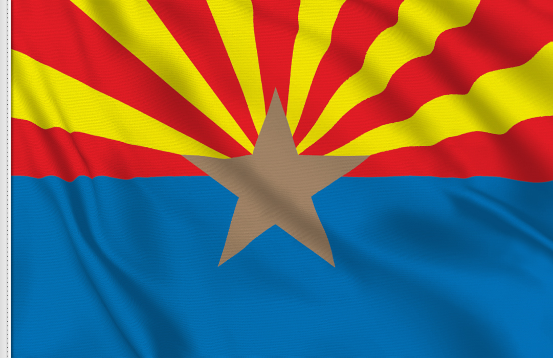 Flag sticker of Arizona