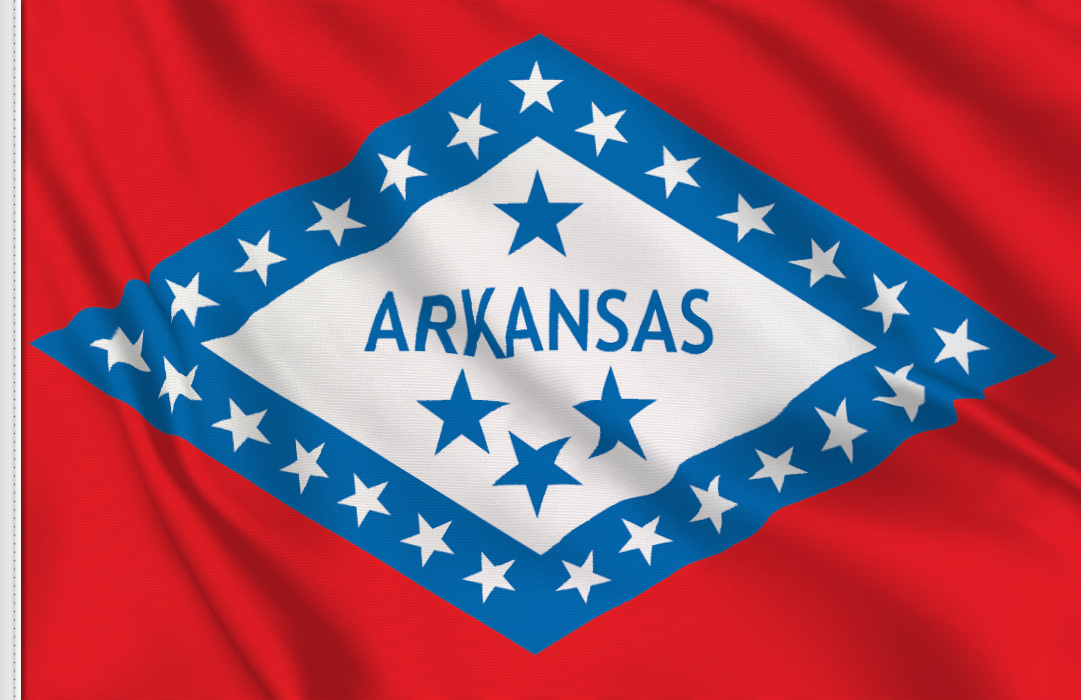 Flag sticker of Arkansas